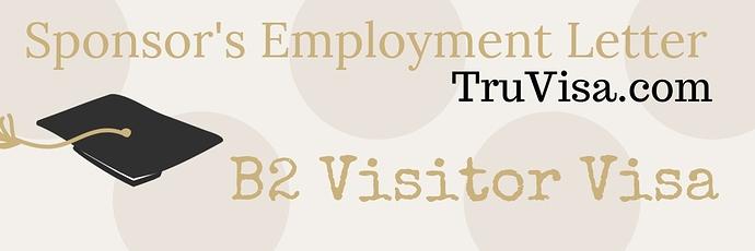 Sample Employment letter for B2 visitor Visa for parents