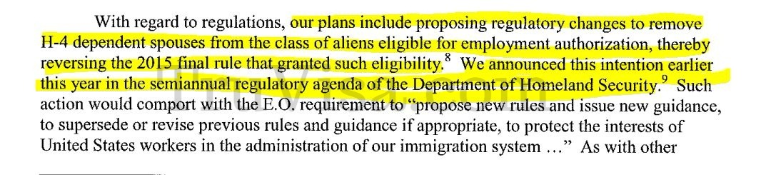 H4 EAD may be withdrawn by DHS in 2018 - Bad news - News