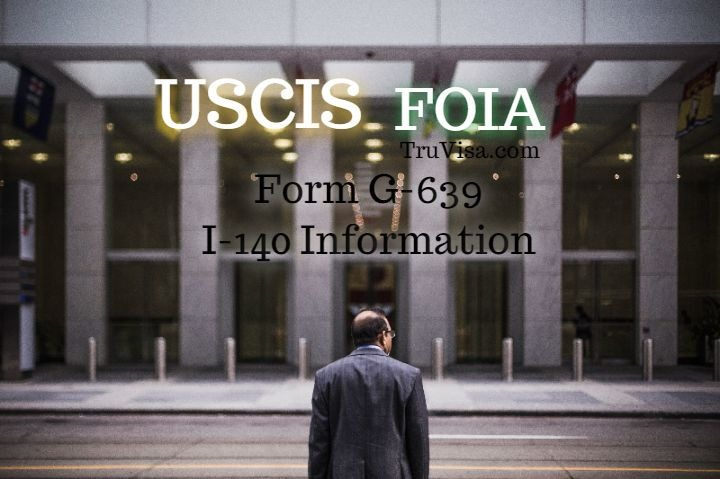 Sample G-639 form for USCIS FOIA request by email or postal mail