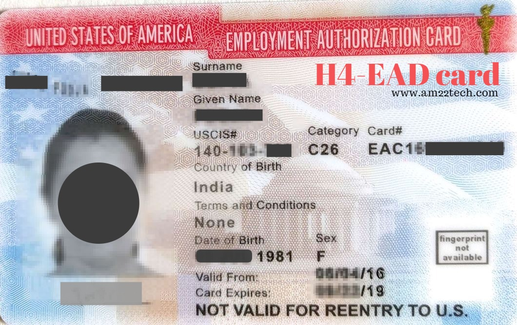 I94 Number On H4 Ead Form Is Uscis Or Alien Number At The Time Of