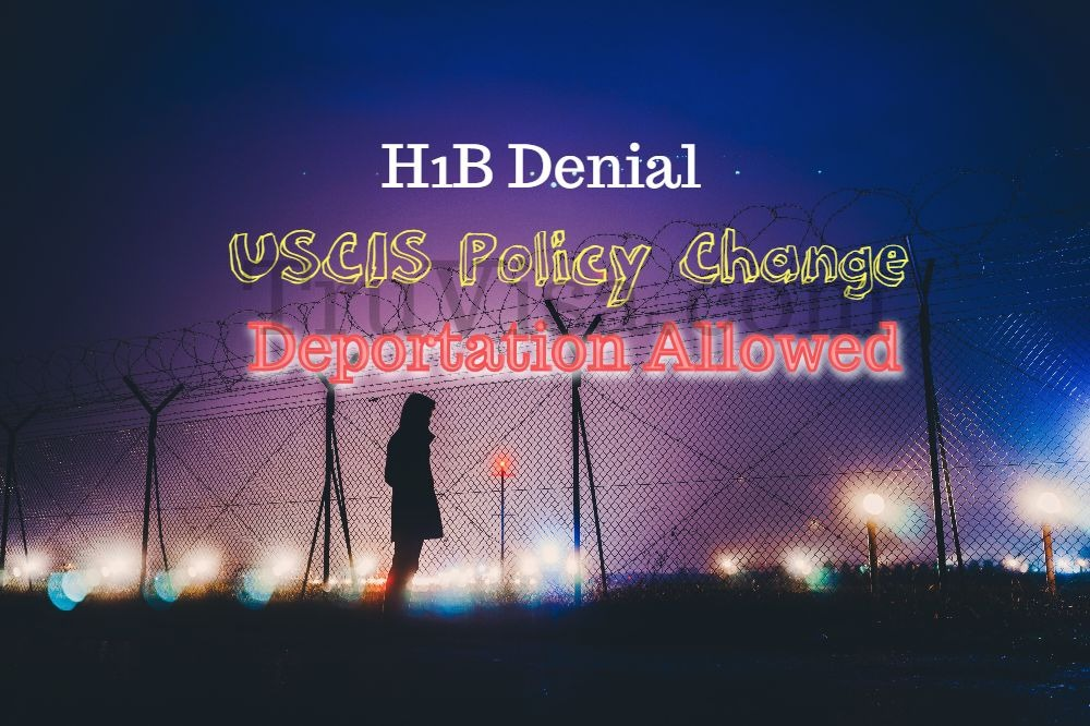 USCIS allows deportation proceeding after H1B Extension or Transfer