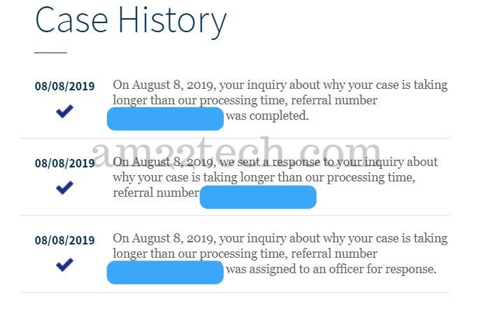 How to check status of USCIS e Service request online? - USA