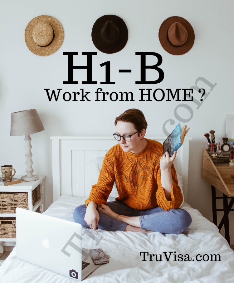 Can I work from home on H1B visa? What if my home is in different